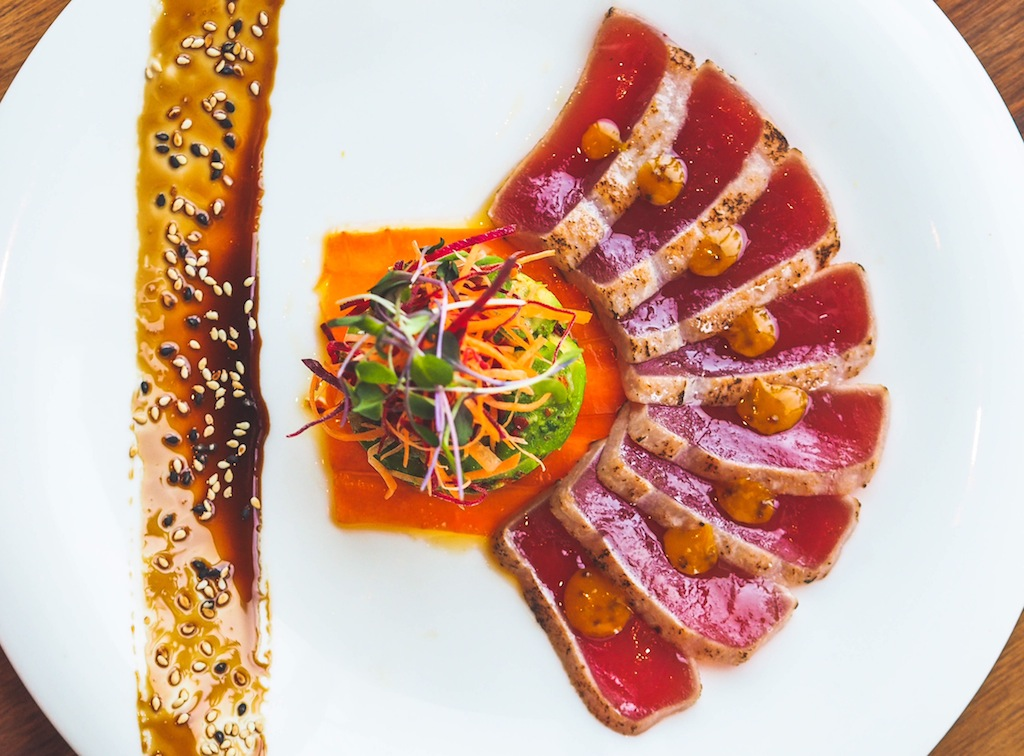 SEARED TUNA TATAKI WITH AVOCADO SALAD